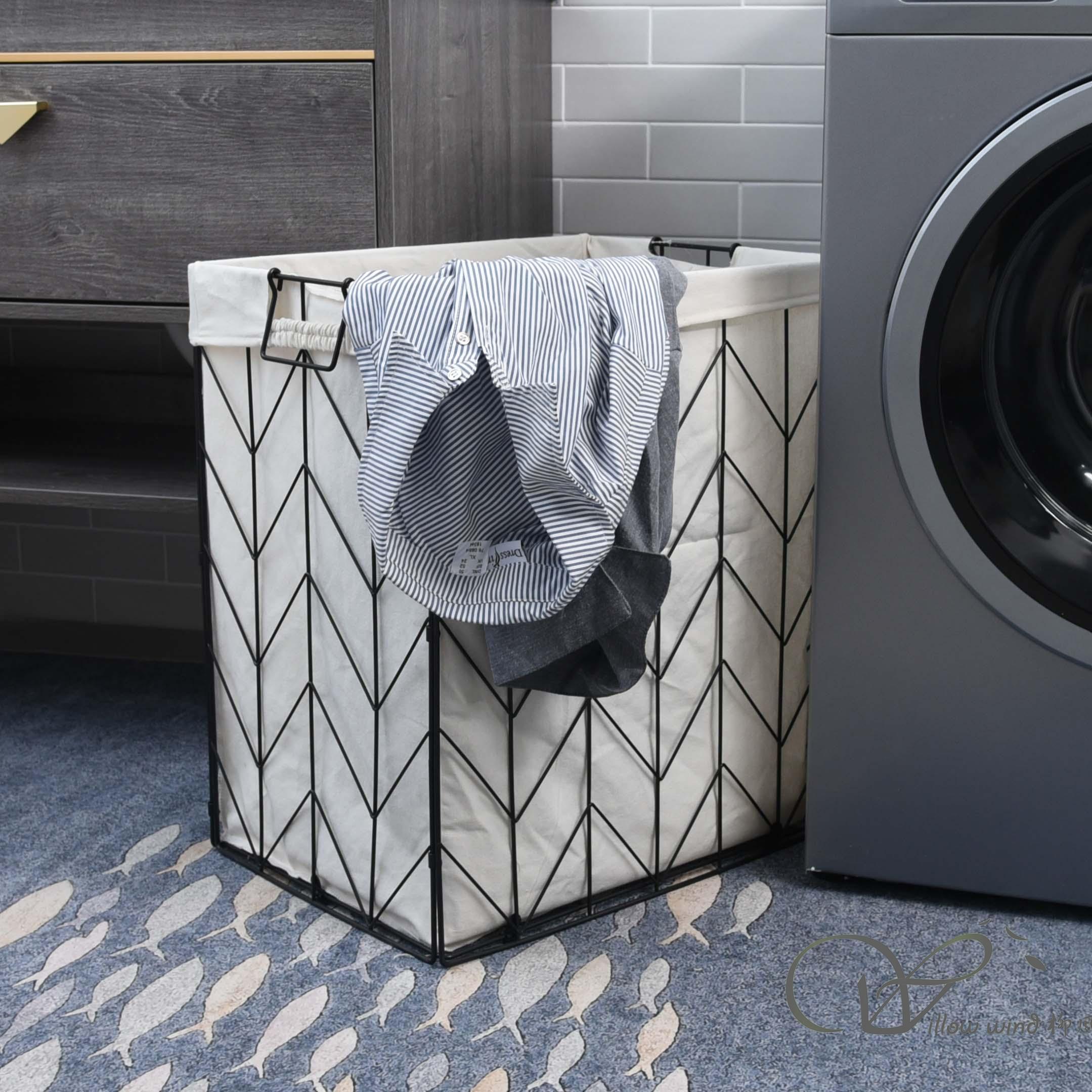 large laundry basket metal basket KD hamper storage basket