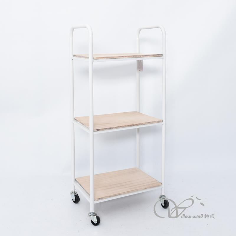 White Iron cabinet side table night stand Storage cabinet