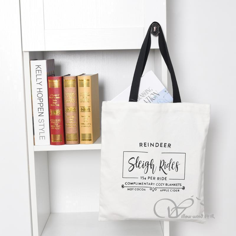 organic cotton bag Grocery Bag shopping tote bag carry bag cotton bag handbag canvas bag promotion b