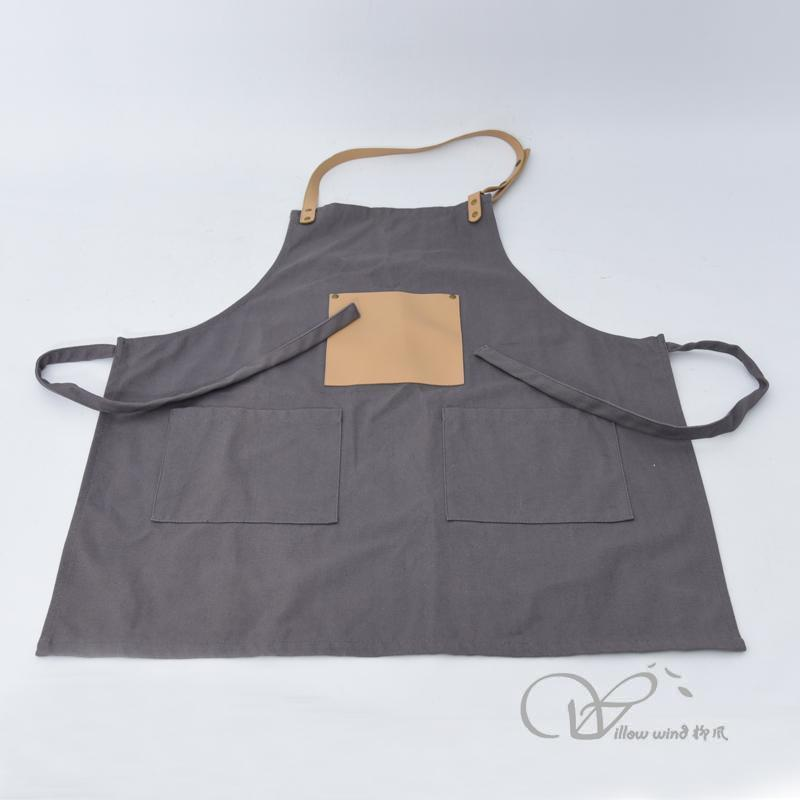 Fabric Kitchen Apron with PU Pocket, Plus Size Ladies, Great Gift for Wife or Ladies