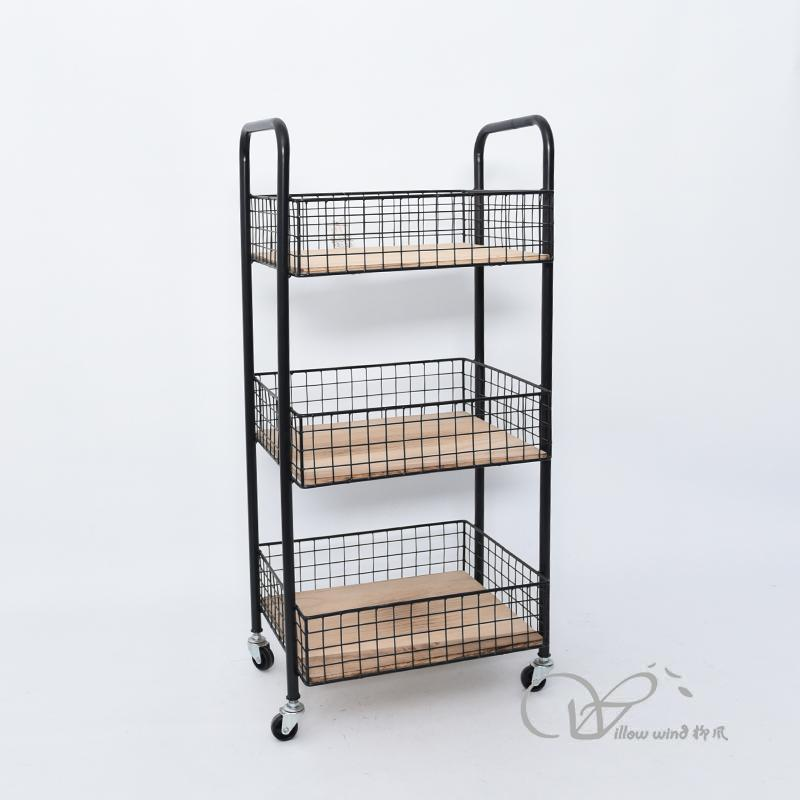 Black Iron cabinet side table night stand Storage cabinet