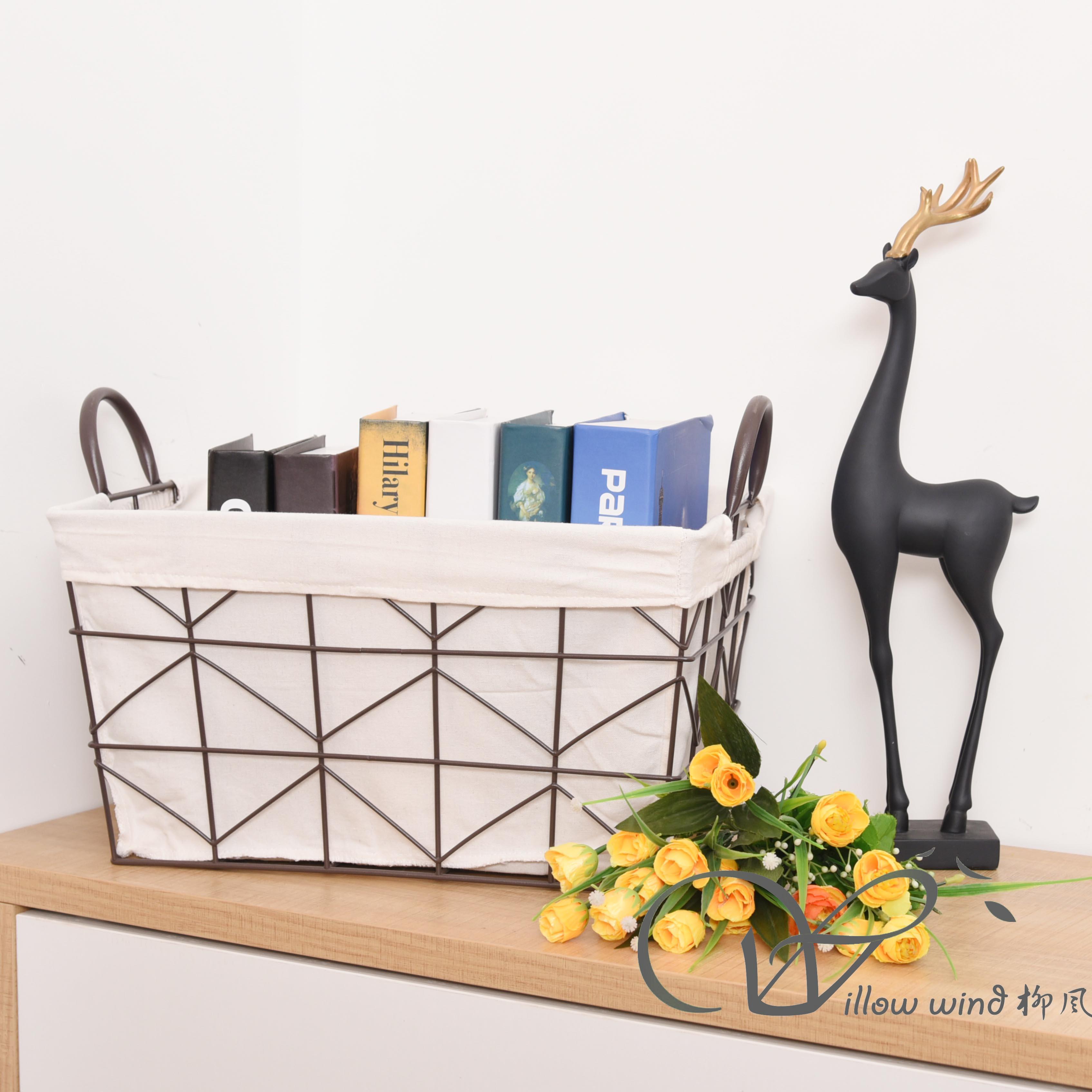 Black Rectangle Wire storage basket Fruit Basket