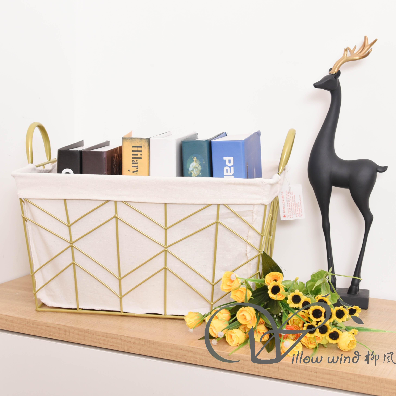 Golden Rectangle Wire storage basket Fruit Basket